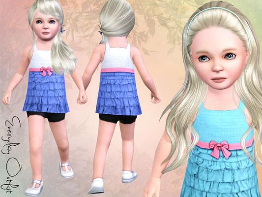 Sims 3 dress, fashion, clothing, outfit, toddler