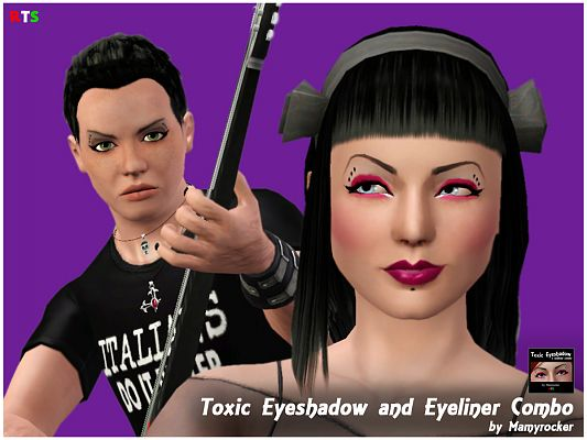 Sims 3 eyeshadow, makeup, female, male