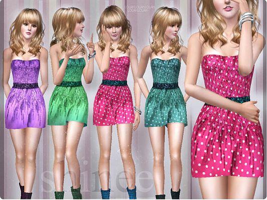 Sims 3 dress, outfit, clothing, female