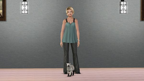 Sims 3 sims, female, pet