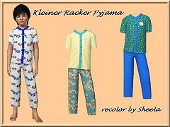 Sims 3 pyjama, top, shorts, clothing, kids
