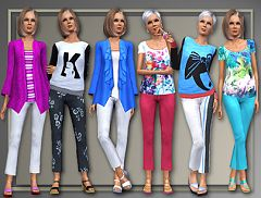Sims 3 clothing, fashion, outfit, female, elder