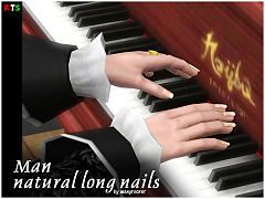Sims 3 nails, accessories, male