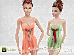 Sims 3 lingerie, sleepwear, fashion, female