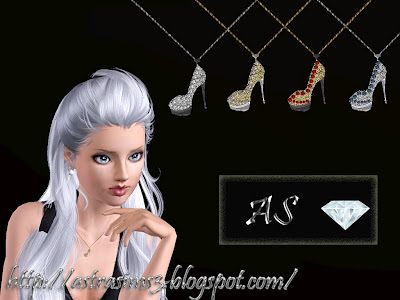 Sims 3  jewelry, accessory, pendant, shoes