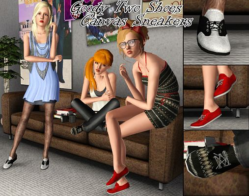 Sims 3 sneakers, shoes, female