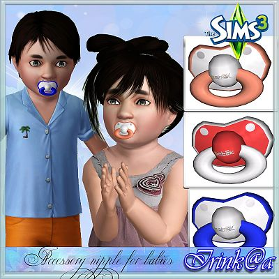 Sims 3 nipple, accessories, toddler