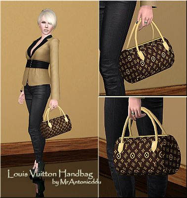 Sims 3 bag, accessory, louis vuitton
