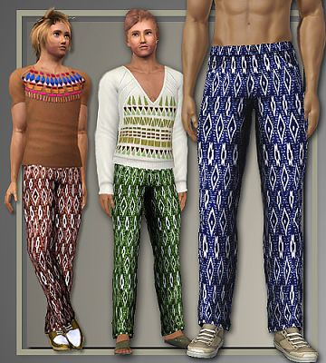 Sims 3 pants, bottom, males, clothes
