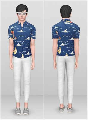 Sims 3 shirt, male, clothing