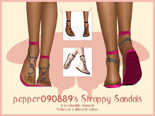 Sims 3 shoes, sandals, fashion, female