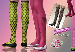 Sims 3 socks, fashion, women, sims