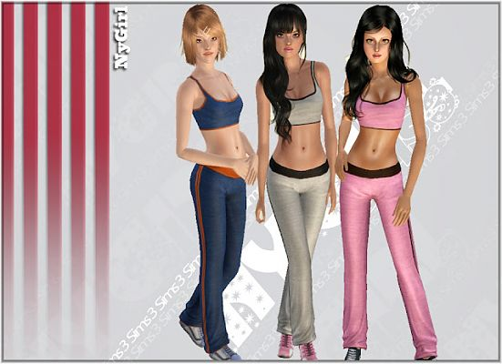 Sims 3 clothes, sport, athletic