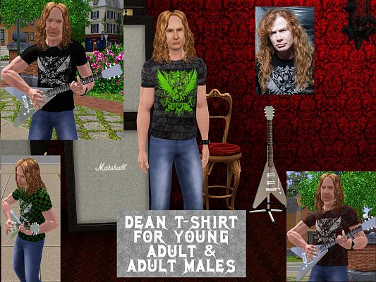 Sims 3 tee, t-shirt, male, clothes