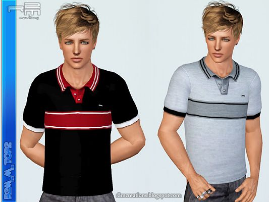 Sims 3 top, clothing, clothes, fashion, males