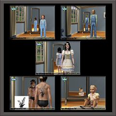 Sims 3 dress, cloth, clothing, outfit, fashion, tattoo