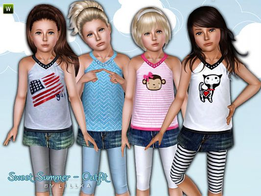 Sims 3 outfit, set, fashion, child