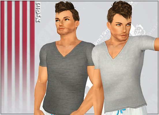 Sims 3 top, clothing, tee, male, outfit