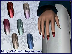 Sims 3 nails, accessories, female, fashion