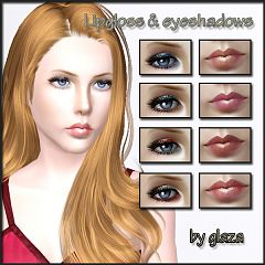 Sims 3 lips, lipstick, eyeshadow, makeup, female