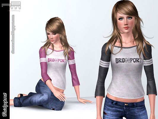 Sims 3 top, clothing, fashion, outfit, female
