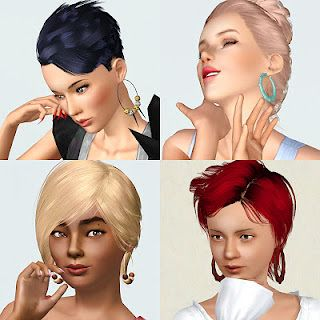Sims 3 acessories, jewelry, earrings, patterns