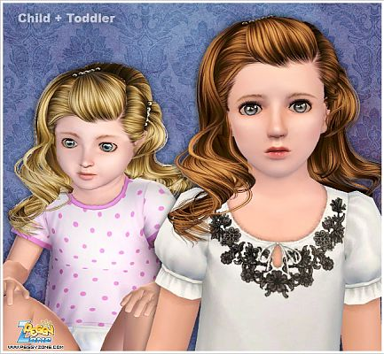 Sims 3 hair, hairstyle, female, child, toddler