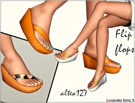 Sims 3 flip flops, shoes, sandals, wedge