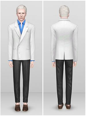 Sims 3 suit, males, outfit