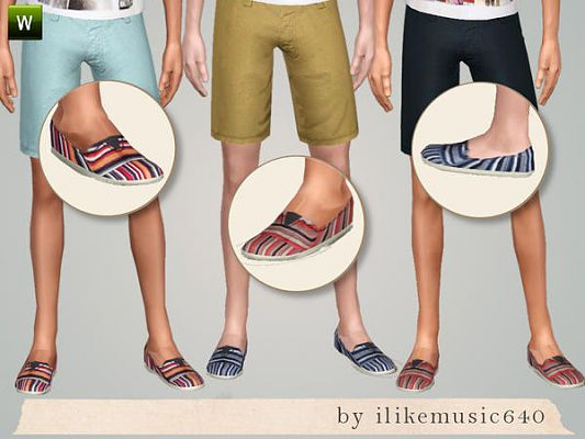 Sims 3 shoes, foowear, males