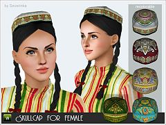 Sims 3 hat, accessories, female