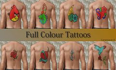Sims 3 tattoo, tattoos, set