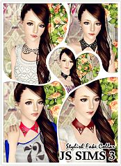 Sims 3 accessory, colllar, fashion