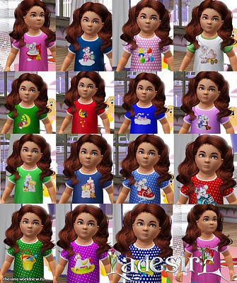 Sims 3 kids, shirts, fashion