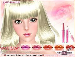 Sims 3 lips, lipgloss, makeup