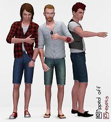 Sims 3 jeans, male, clothes