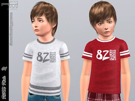 Sims 3 shirt, male, kids