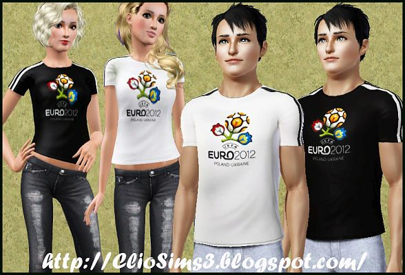 Sims 3 t-shirt, clothing, male, female