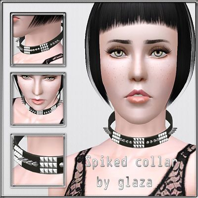 Sims 3 collar, spike, jewelry