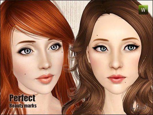 Sims 3 beauty mark, fashion