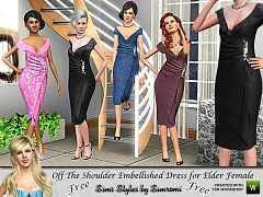Sims 3 dress, cloth, clothing, outfit, fashion, elder