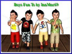 Sims 3 clothing, toddler, top, outfit, boys