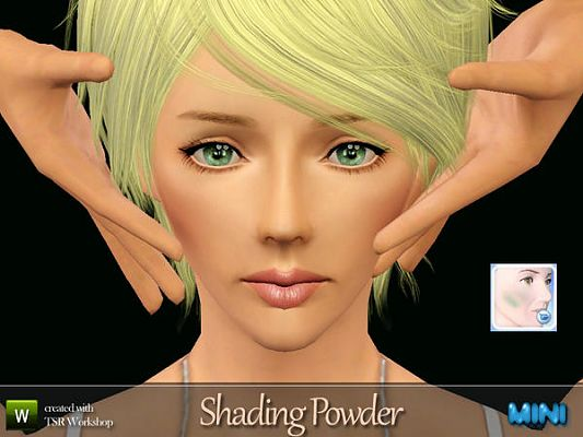 Sims 3 powder, blush, makeup
