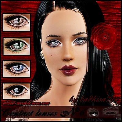 Sims 3 eyes, contact lenses, makeup, costume makeup, female