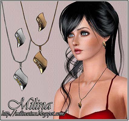 Sims 3 earrings, necklace, jewelry, female