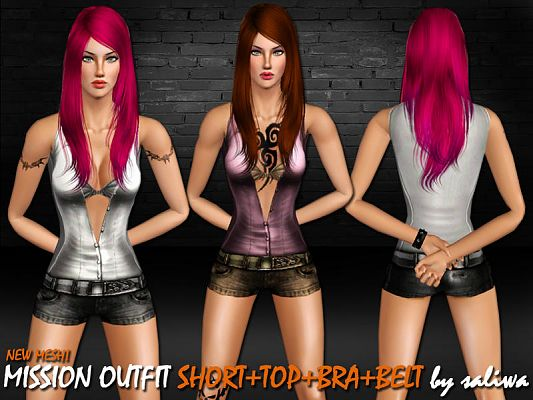 Sims 3 outfit, clothing, female, casual