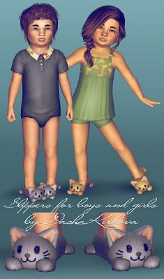 Sims 3 slippers, toodler
