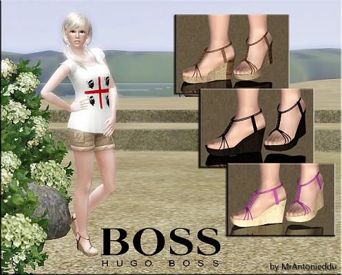 Sims 3 shoes, foowear, sandals