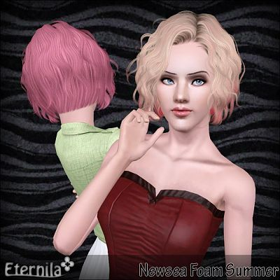 Sims 3 hair, hairstyle, female, male, convertion