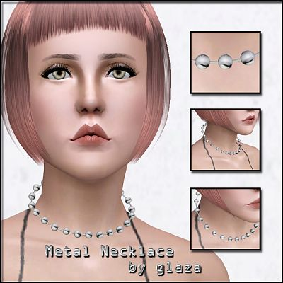 Sims 3 necklace, jewelry, metal